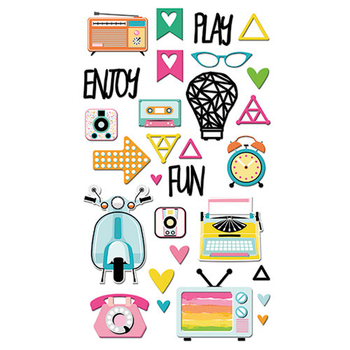 Fancy Pants Designs - Joy Parade Collection - Puffy Stickers