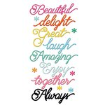 Fancy Pants Designs - Joy Parade Collection - Puffy Stickers - Sentiments