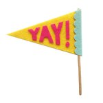 Fancy Pants Designs - Craft Edition Collection - Felt Pennant - Yay
