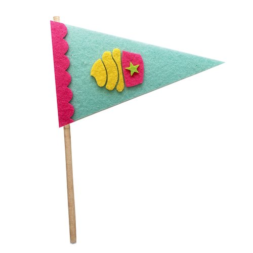Fancy Pants Designs - Craft Edition Collection - Felt Pennant - Cupcake
