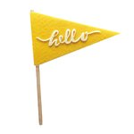 Fancy Pants Designs - Craft Edition Collection - Felt Pennant - Hello