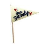 Fancy Pants Designs - Craft Edition Collection - Felt Pennant - Our Family