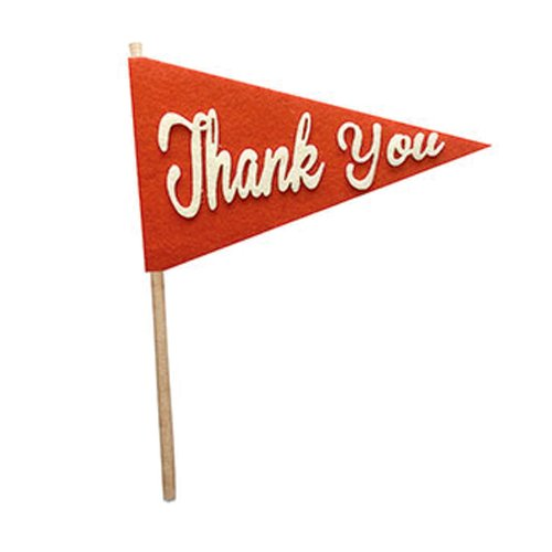Fancy Pants Designs - Craft Edition Collection - Felt Pennant - Thank You