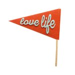 Fancy Pants Designs - Craft Edition Collection - Felt Pennant - Love Life