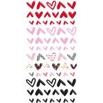 Fancy Pants Designs - Sweet Nothings Collection - Puffy Stickers - Hearts