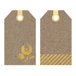 Fancy Pants Designs - Sweet Nothings Collection - Tags - Kraft with Gold Foil