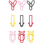 Fancy Pants Designs - Sweet Nothings Collection - Paper Clips