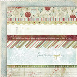 Fancy Pants Designs - Christmas Magic Collection - 12 x 12 Double Sided Paper - Christmas Magic Strips , CLEARANCE