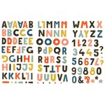 Fancy Pants Designs - Family and Co Collection - Chipboard Stickers - Alphabet