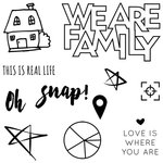 Fancy Pants Designs - Family and Co Collection - Clear Acrylic Stamps