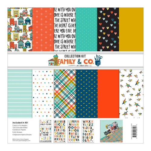 Fancy Pants Designs - Family and Co Collection - 12 x 12 Collection Kit