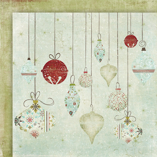 Fancy Pants Designs - Christmas Magic Collection - 12 x 12 Double Sided Paper - Deck the Halls , CLEARANCE