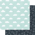 Fancy Pants Designs - Dream Big Collection - 12 x 12 Double Sided Paper - Head in the Clouds