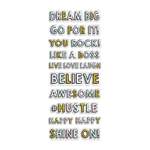 Fancy Pants Designs - Dream Big Collection - Puffy Stickers - Sentiment