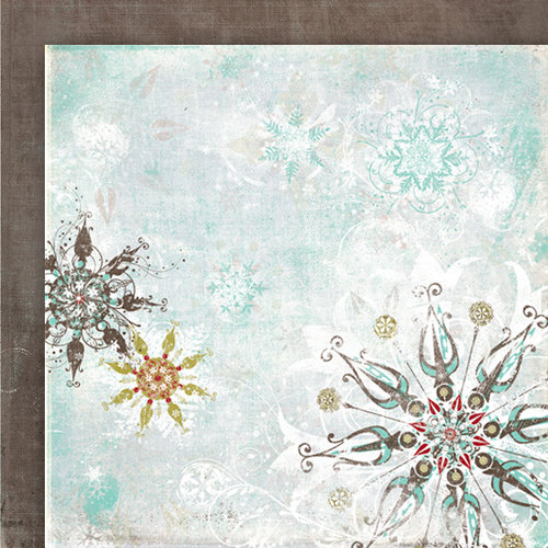 Fancy Pants Designs - Christmas Magic Collection - 12 x 12 Double Sided Paper - Silver Snow