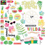 Fancy Pants Designs - Hello Sunshine Collection - Ephemera with Foil Accents