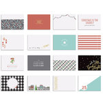 Fancy Pants Designs - Holiday Hustle Collection - Christmas - 4 x 6 Brag Cards