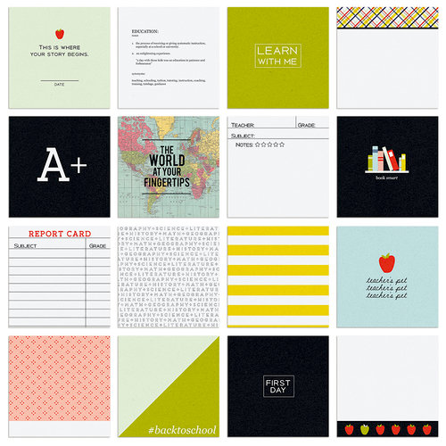 Fancy Pants Designs - Take Note Collection - Brag Cards