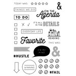 Fancy Pants Designs - Take Note Collection - Clear Acrylic Stamps