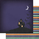 Fancy Pants Designs - Spellbound Collection - Halloween - 12 x 12 Double Sided Paper - Happy Haunting