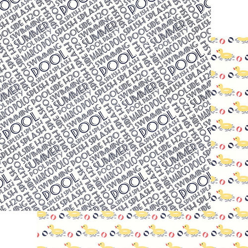 Fancy Pants Designs - Poolside Collection - 12 x 12 Double Sided Paper - Pool Party