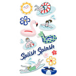 Fancy Pants Designs - Poolside Collection - Chipboard Stickers