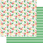 Fancy Pants Designs - The Bright Side Collection - 12 x 12 Double Sided Paper - Coming Up Roses
