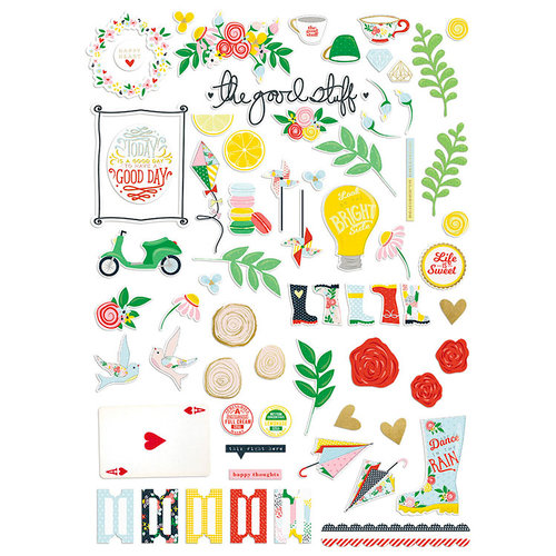 Fancy Pants Designs - The Bright Side Collection - Ephemera with Foil Accents