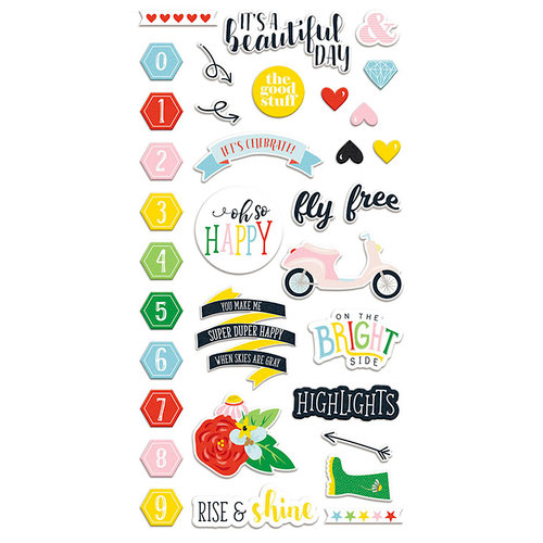 Fancy Pants Designs - The Bright Side Collection - Chipboard Stickers
