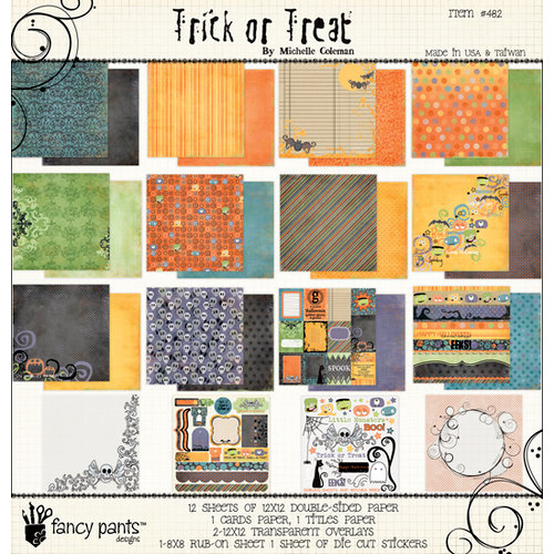 Fancy Pants Designs - Trick or Treat Collection - Halloween - 12 x 12 Paper Kit
