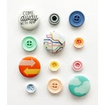 Fancy Pants Designs - On Our Way Collection - Buttons with Flair