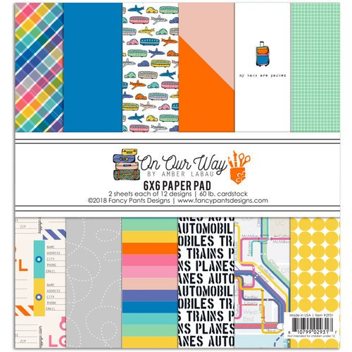 Fancy Pants Designs - On Our Way Collection - 6 x 6 Paper Pad