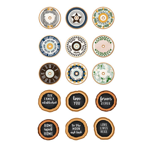 Fancy Pants Designs - Magnolia Moments Collection - Chipboard Embellishments - Spools and Slices