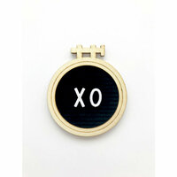 Fancy Pants Designs - Magnolia Moments Collection - Letterboard Embellishment - XO