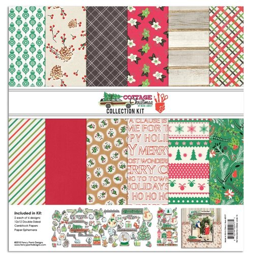 Fancy Pants Designs - Christmas Cottage Collection - 12 x 12 Collection Kit
