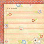 Fancy Pants Designs - Little Sprout Collection - 12 x 12 Double Sided Paper - Your Day , CLEARANCE