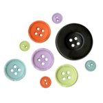 Fancy Pants Designs - Trick or Treat Collection - Halloween - Buttons, CLEARANCE