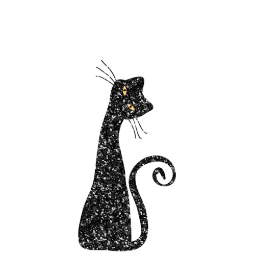 Fancy Pants Designs - Trick or Treat Collection - Halloween - Glitter Cuts Transparencies - Black Cat