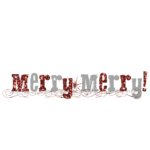 Fancy Pants Designs - Christmas Magic Collection - Glitter Cuts Tranparencies - Merry Title