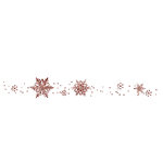 Fancy Pants Designs - Christmas Magic Collection - Glitter Cuts Tranparencies - Snowflake Border