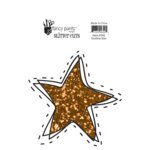 Fancy Pants Designs - Rough and Tough Collection - Glitter Cuts Transparencies - Outline Star