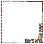 Fancy Pants Designs - Rough and Tough Collection - 12 x 12 Printed Transparent Overlays - Boys Will Be Boys , BRAND NEW