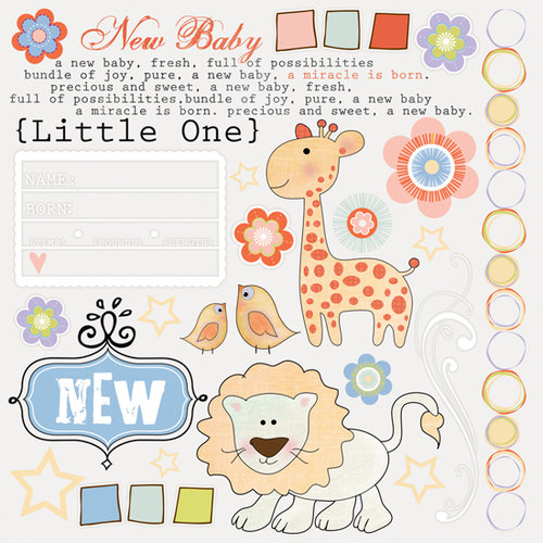 Fancy Pants Designs - Little Sprout Collection - Rub Ons, CLEARANCE