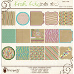 Fancy Pants Designs - This Girl Collection - Kraft Kuts 12 x 12 Paper Kit, CLEARANCE