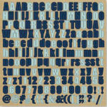 Fancy Pants Designs - That Boy Collection - 12 x 12 Alphabet Cardstock Stickers - Blues