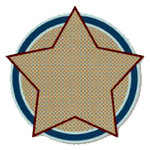 Fancy Pants Designs - That Boy Collection - 12 x 12 Die Cut Paper - Star Dotted