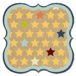 Fancy Pants Designs - That Boy Collection - 12 x 12 Die Cut Paper - Stars Bracket, CLEARANCE