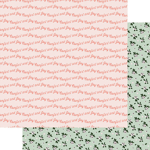 Fancy Pants Designs - Home For Christmas Collection - 12 x 12 Double Sided Paper - Comfort and Joy