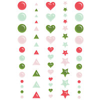 Fancy Pants Designs - Home For Christmas Collection - Stickers - Puffy Dots