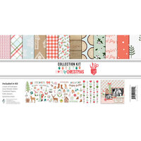 Fancy Pants Designs - Home For Christmas Collection - 12 x 12 Collection Kit